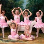 Girls doing ballet